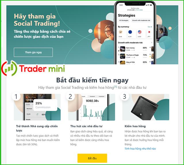 Đánh giá nền tảng exness social trading