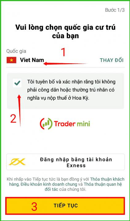 hướng dẫn cài đặt ứng dụng social trading copy trader của sàn exness