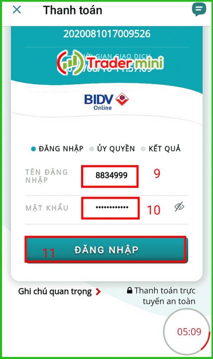 nạp tiền exness social trading bằng ngân hàng bidv