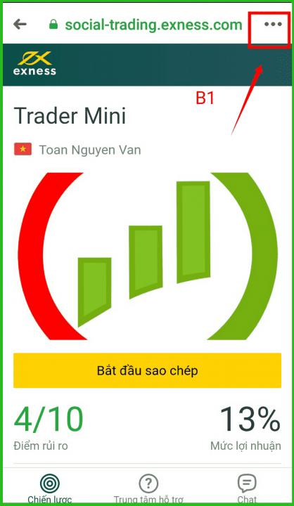 hướng dẫn copy trader chiến lược của trader mini