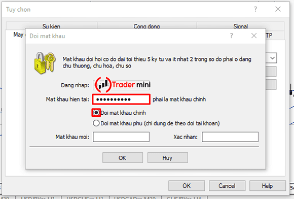 gán mật khẩu mt4 với myfxbook