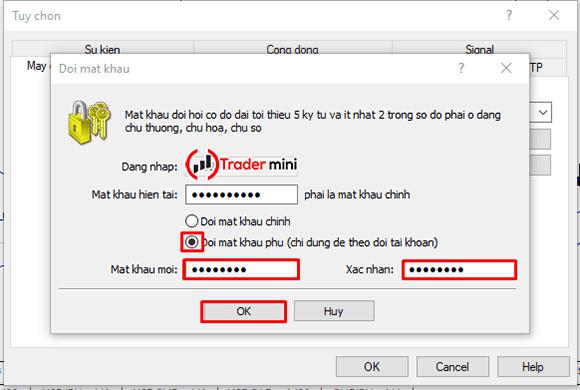 thay đổi mật khẩu giao dịch mt4 bằng mật khẩu nhà đầu tư do myfxbook cấp