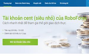 Tài khoản roboforex cent
